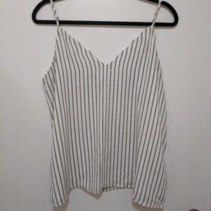 White tank top with black stripes
